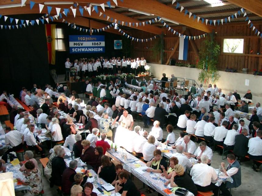 Sängerfest in der landwirtschaftlichen Halle